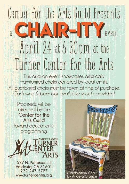 Chair-Ity Auction 11x17 door sign PRINT