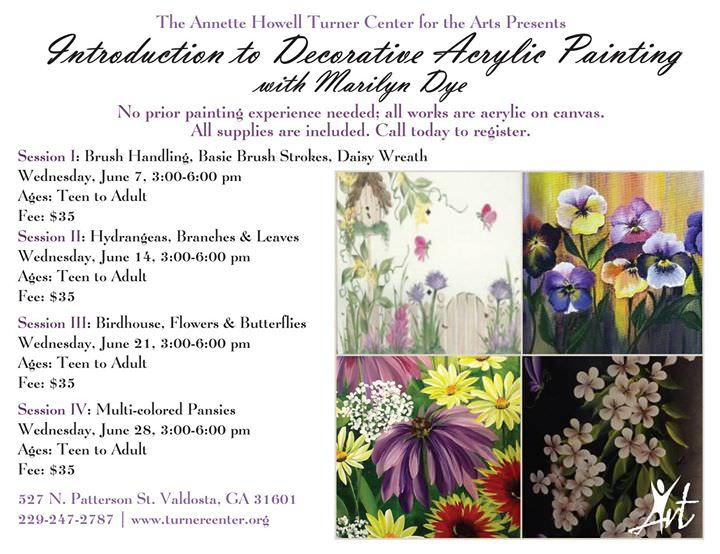 Intro to Decorative Acrylic Painting w/ Marilyn Dye-Session