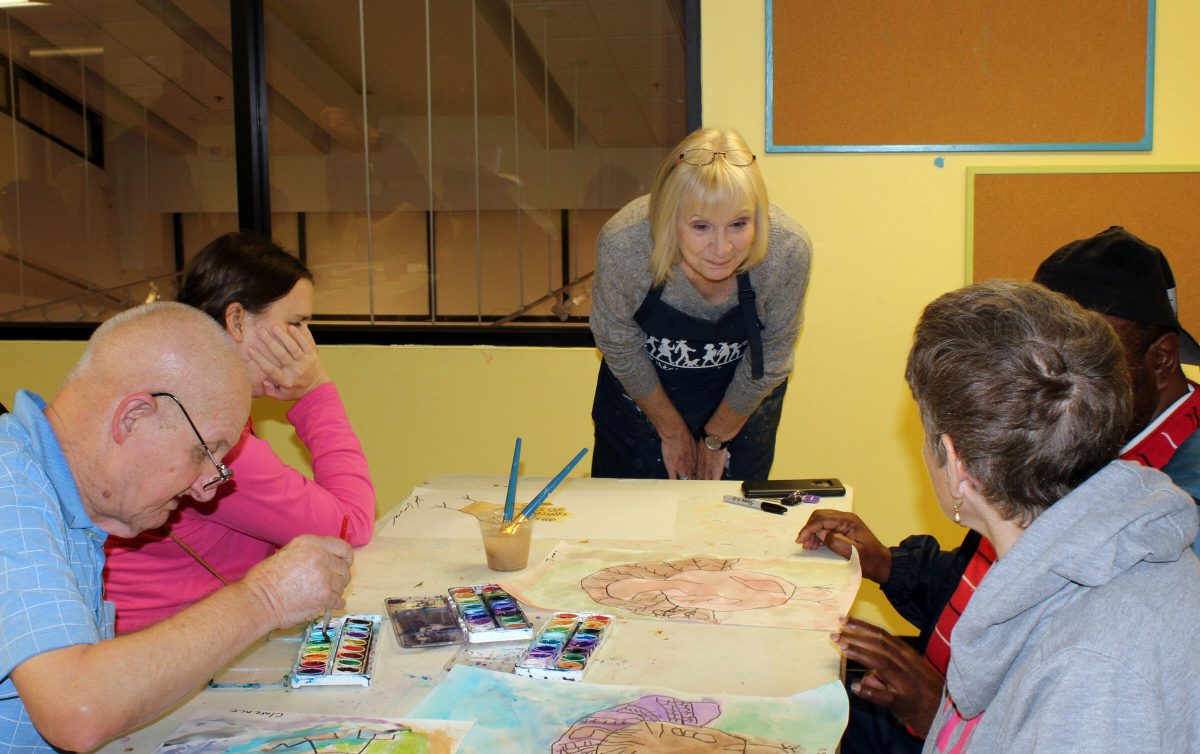 Adult Developmental Disability group travels to participate in art-learning opportunity at the Turner Center for the Arts