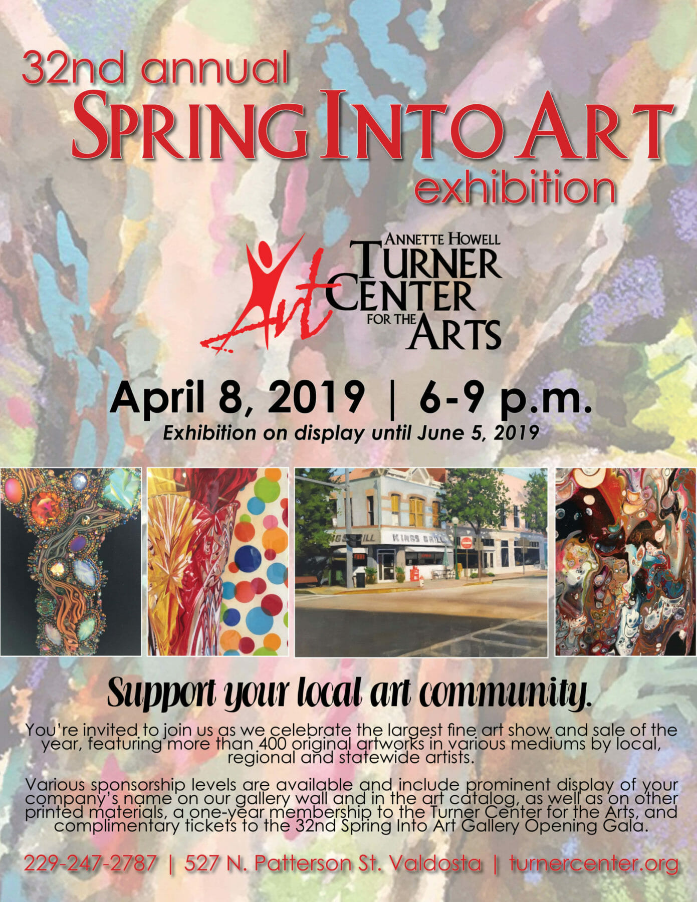 Turner Center invites supporters to participate in 32nd Annual Spring Into Art exhibition