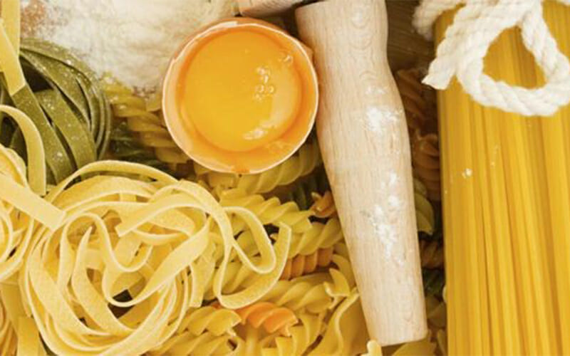 picture of pasta and ingredients to make homemade pastas