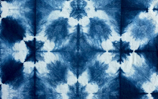 indigo dye, shibori, cloth