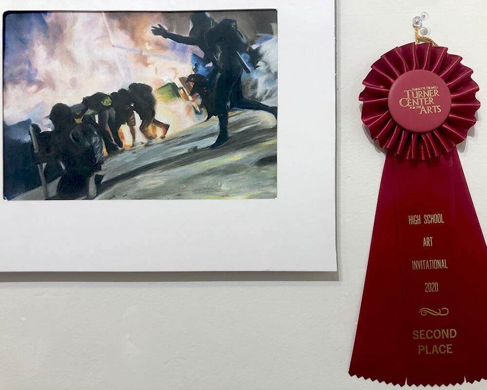 second place, youth art month