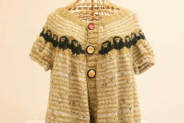 127_Vanessa Kroening-Fair Isle Sheep Steeked Cardigan $130