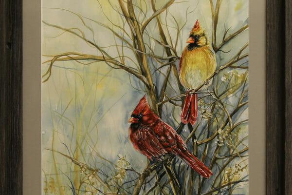 162_Teresa Middleton-Red Birds $440 *SOLD*