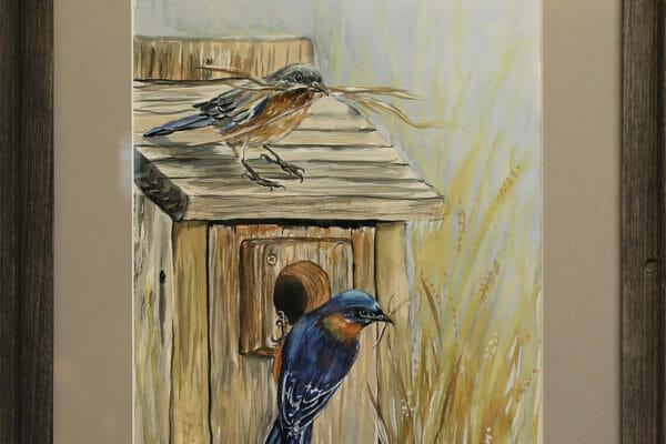 163_Teresa Middleton-Blue Birds $440 *SOLD*