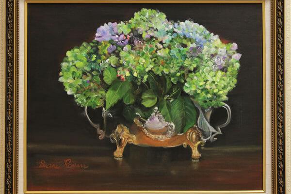 199_DianeRogers-Silver Hydrangea Bowl $250 *SOLD*
