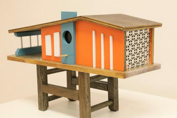 19_Rusty Borders-Mid Century Modern Bird House $150 *SOLD*