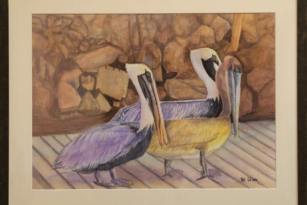 36_Patricia Colson-A Pod of Pelicans $500