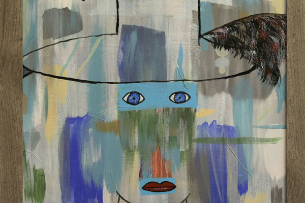 65_Randy Ellis-Abstract with Face $95 *SOLD*