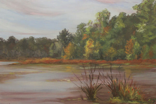 90_Hannah Gandy-Grassy Pond En Plein Air $750