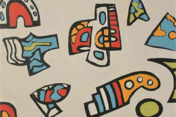 229_Lawrence Tobe-Mayan Tablet I $800