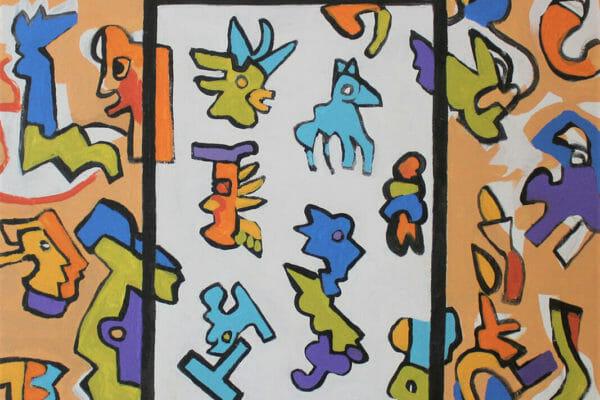230_Lawrence Tobe-Mayan Tablet II $1200