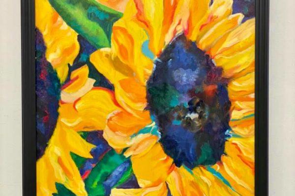 3 Sunflowers 24x30 $550