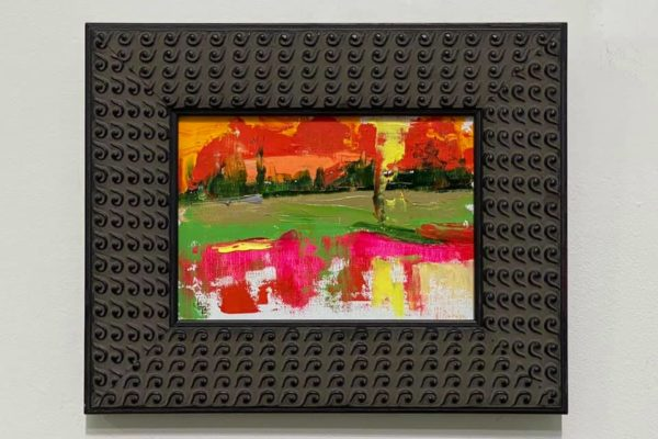 31 Hayfield in Pink 5x7 $125 *SOLD*