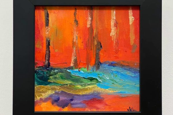 46 Pines in Red 6x6 $90