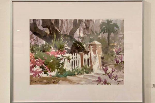 #31 Broken Gate 15x22 Watercolor $600