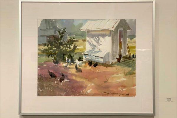#33 Chicken Coop 16x20 Watercolor $600