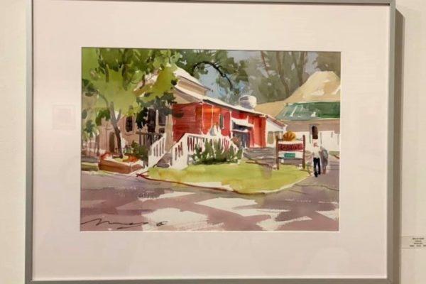 #40 Caboose 15x22 Watercolor $600