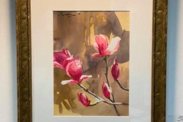 #42 Japanese Magnolias 11x15 Watercolor $400