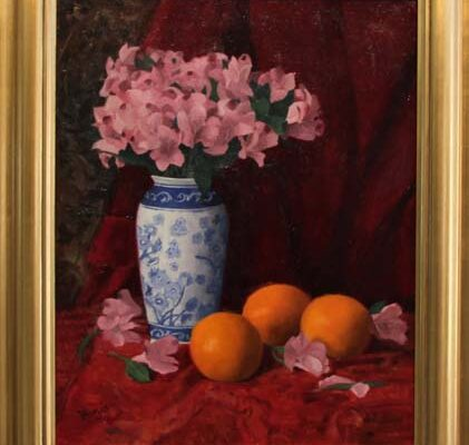 #101 Nancy Fazio-Alstroemerias and Oranges-$1,000