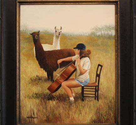 #106 Brenda Francis-Llama Serenade-$650