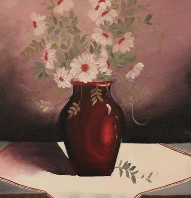 #114 Viviana Garcia - Red & Daisies - $250
