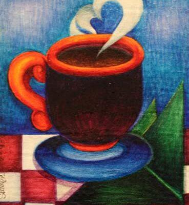 #152 Sarah Karagoz-Steamin Cup O Joe-$45