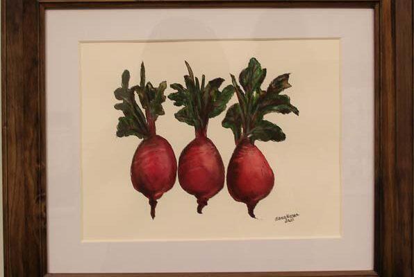 #206 Dana G. Moser - Garden Beets-$175 *SOLD*