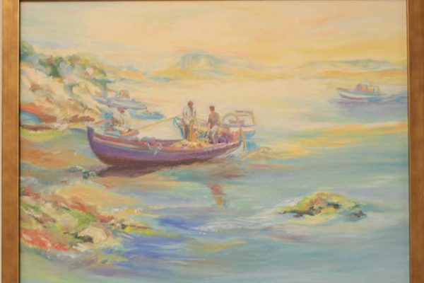 #246 Sheila R. Sabin Let's Go Fishing Grandaddy - $400