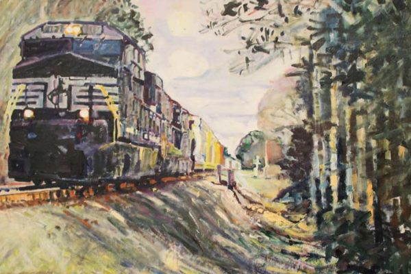 #309 Todd Wessel - NS Train Heading to Valdosta - $400 *SOLD*