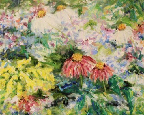 #67 Jeanne Cowart - Blue Ridge Wildflowers -$1500 *SOLD*