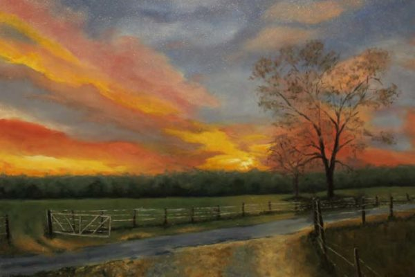 #73 Nancy S. Crombie-Sunset on the Farm-$600 *SOLD*